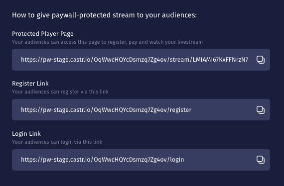 How to Set up Paywall for an All in One stream